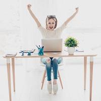 Mentorforløb i online markedsføring Happy girl